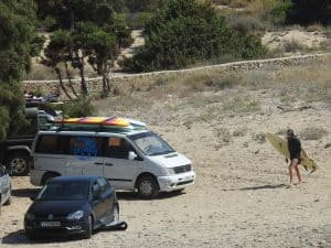 Antiparos surfing livadia beach